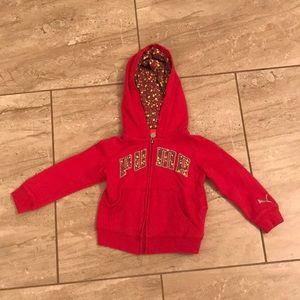 Pink Puma zip up hoodie